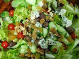 Mixed Salad with Blue Cheese and Nuts
