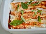 Eggplant Recipes : The Eggplant Bake – Aubergine & ricotta layers with rich tomato saucee –