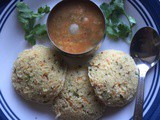 Oats and Wheat Rava Idly