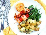 Bbq Lemon and Rosemary Salmon Skewers