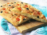 Black Olive and Cherry Tomato Focaccia