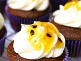 Dark Chocolate and Passion Fruit Cupcakes
