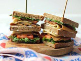 The Ultimate Vegan Club Sandwich
