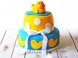 Two Tier Celebration Cake for Baby Shower