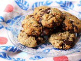 Vegan Chocolate Chip Cookies with Tahini and Sea Salt