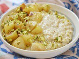 Vegan Pear, Pistachio and Cardamom Porridge