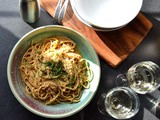 Linguine with Sea Urchin Roe (Uni) Sauce