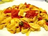 Pasta with Calamari, Tomato and Caper Sauce