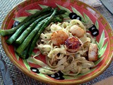 The only things that start on time are those that you're late for. – Murphy's Law and Pan Seared Scallops with Fettuccine with Lemon Sauce For Two