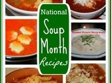 Monday Menu Plan and National Soup Month