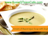 {Mother's Day} Cream of Asparagus Soup with Soymilk