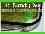 St. Patrick's Day Green Cornbread Recipe