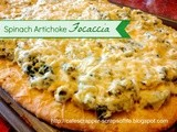 {Super Bowl Recipes} Spinach Artichoke Focaccia with Fleischmann's yeast
