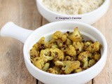 Cauliflower Mezhukkupuratti Recipe / Stir fried Cauliflower with Black Pepper