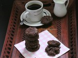 Double Chocolate, Almond and Flax Cookies