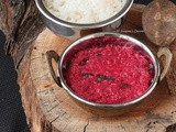 Kerala Style Beetroot Pachadi / Beetroot in Yogurt and Coconut Gravy