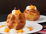 Mango and Passion Fruit Flavored Savarin ~ April 2013 Daring Bakers Challenge