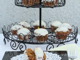 Mini Carrot Cupcakes with Lemon Cream Cheese Frosting ~ March 2013 Daring Bakers' challenge: Hidden Veggies