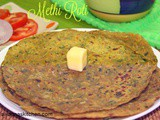 Methi roti / Methi chapathi /Fenugreek leaves roti recipe