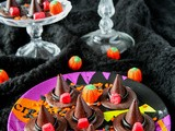 Chocolate Honeycomb Halloween Witches' Hats
