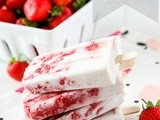 Natural Strawberry Coconut Ice Lollies (Popsicles)