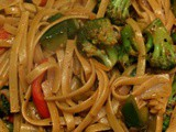 Meatless Monday Vegetarian Kung Pao Noodle Bowls