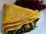 Crepes with Spinach Paneer filling