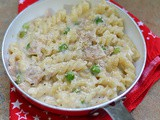 One Pot Ham and Peas Fusilli Pasta