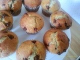 Banana and chocolate chip muffins