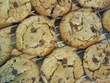 Choc chip and pretzel cookies