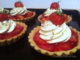 Mini strawberry and cream tarts