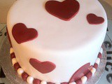 Red and white layer cake