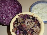 Purple Cabbage rice