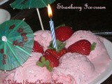 Strawberry Ice cream without Machine