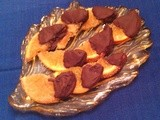 Candied Orange Slices Dipped in Dark Chocolate