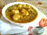 Oil free soya moong daal curry