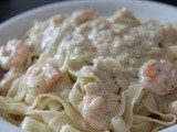 Creamy Shrimp Pasta with Creme Fraiche