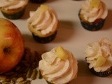 Apple Mini cupcake with an aromatic cardamom apple frosting