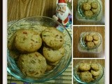 Fruit & Nut Eggless Cookies
