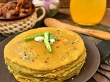 Pumpkin Parathas with Garlic Butter