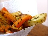 Carrots, parsnips and potatoes chips – vegan