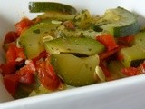 Courgettes with red peppers and sun-dried tomatoes – Vegan