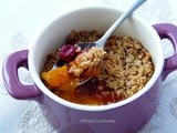 Peach, mango, mirabelle plums Crumble #vegan #glutenfree