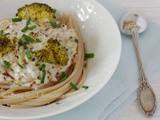 Spaghetti with Broccoli and Almond Cream #vegan #glutenfree