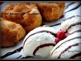 Fried Banana with Ice-cream