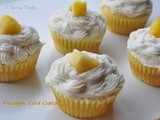 Pineapple Curd Cupcakes
