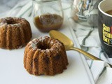 Brown Butter Pumpkin Bundt Cakes with Maple Bourbon Glaze