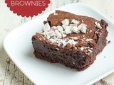 Gluten Free Brownies with Candy Canes for Holiday Baking