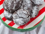 Gluten Free Chocolate Crinkle Cookies with Gingerbread