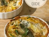 Grain-Free Pumpkin Quiche with Caramelized Onions and Blue Cheese